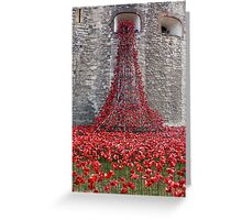 A Cascade Of Poppies At The Tower Of London Greeting Card