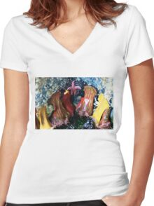 Anemones Are Your Friends Women's Fitted V-Neck T-Shirt