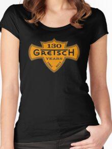 GRETSCH 130 YEARS ORANGE Women's Fitted Scoop T-Shirt