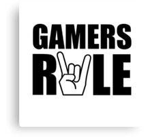 Gamers Rule Canvas Print