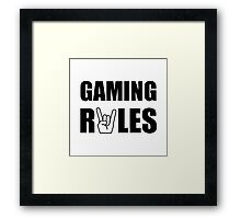 Gaming Rules Framed Print