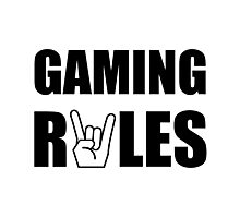 Gaming Rules Photographic Print
