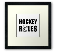 Hockey Rules Framed Print