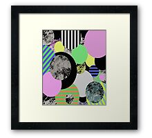 Cluttered Circles Framed Print