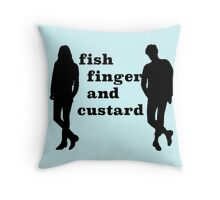 Fish finger and custard Throw Pillow