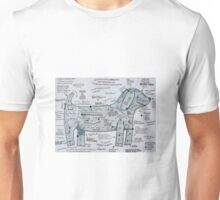 The Silver Sausage Dog Unisex T-Shirt