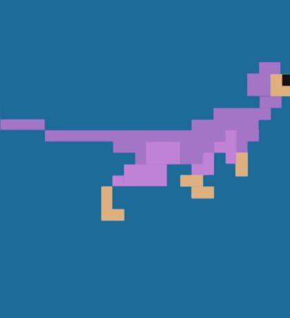 Pixel Dromaeosaur Sticker