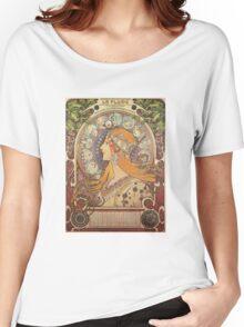 Alphonse Mucha Art Nouveau - La Plume Women's Relaxed Fit T-Shirt