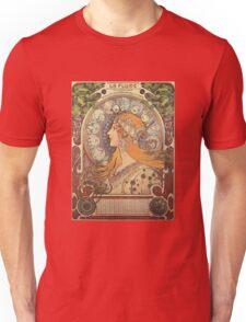 Alphonse Mucha Art Nouveau - La Plume Unisex T-Shirt