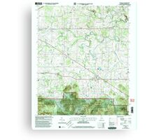 USGS TOPO Map Alabama AL Oakville 304713 2000 24000 Canvas Print