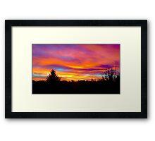 Sky on Fire Framed Print