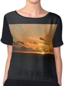 Dusk-on-Sea Chiffon Top