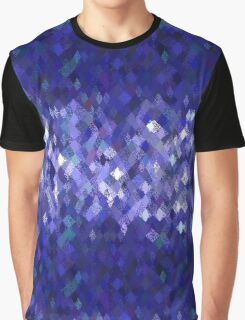 Blue Harlequin Abstract Pattern  Graphic T-Shirt