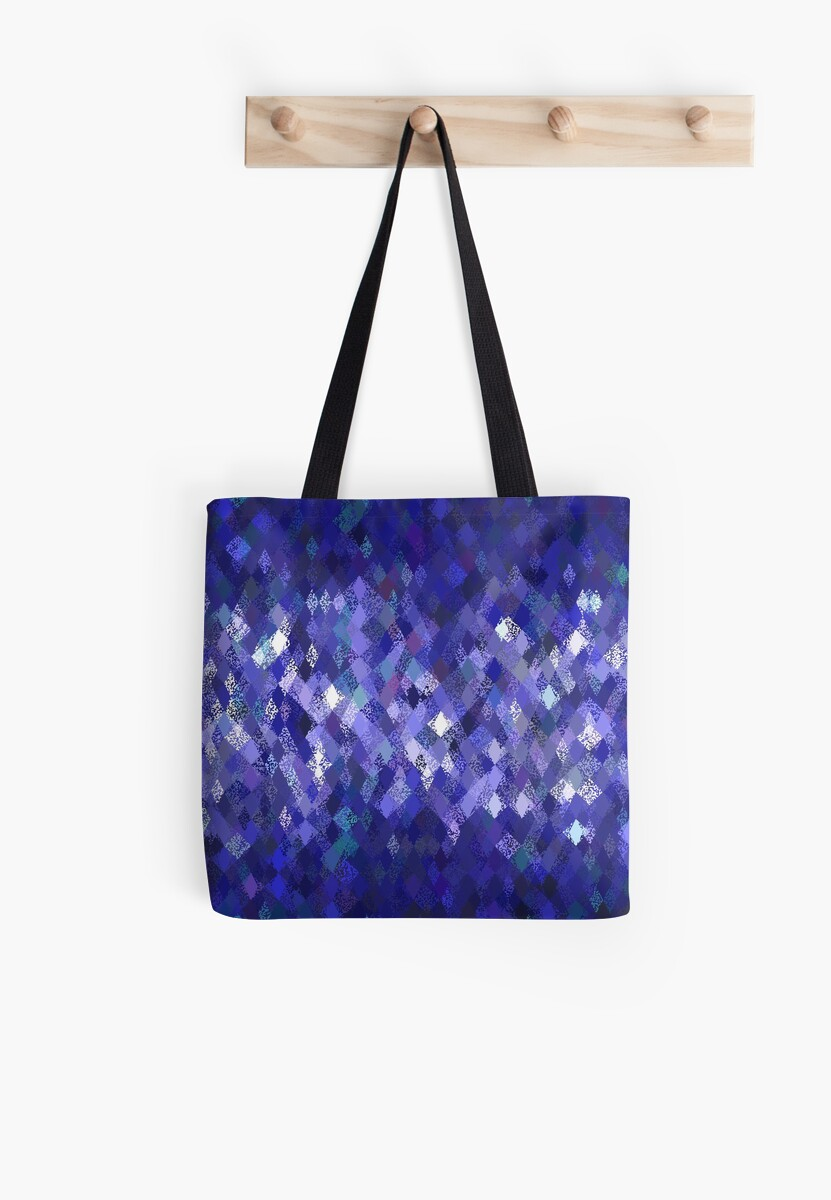 Blue Harlequin Abstract Pattern  by Ra12