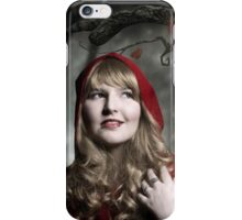 Red Riding Hood in the dark forest iPhone Case/Skin