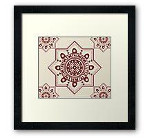Moroccan Tribal Dot Pattern Framed Print