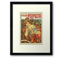Alphonse Mucha - Art Nouveau - Cycles Perfecta Framed Print
