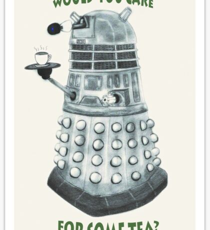 Dalek Would You Care For Some Tea? Sticker