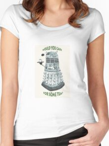 Dalek Would You Care For Some Tea? Women's Fitted Scoop T-Shirt