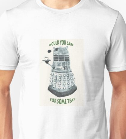 Dalek Would You Care For Some Tea? Unisex T-Shirt