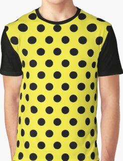 Polkadots Yellow and Black Graphic T-Shirt