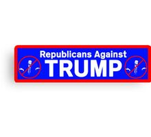 Republicans Against Trump Canvas Print