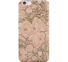 Mucha Peonies Apricot iPhone Case/Skin