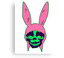 Louise Belcher: Skull Green Hue (version four) Canvas Print