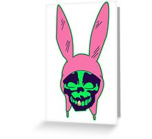 Louise Belcher: Skull Gold Tooth & Green Hue (version five) Greeting Card