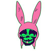 Louise Belcher: Skull Gold Tooth & Green Hue (version five) Photographic Print