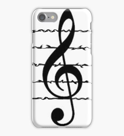 Wavy Treble   iPhone Case/Skin