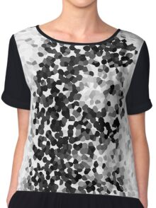 Inked Courage Black and White Crystallised Women's Chiffon Top