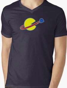 Lego Space Pac-Man (Scared Ghost) Mens V-Neck T-Shirt