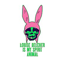 Louise Belcher: Skull Gold Tooth & Spirit Animal (version six) Photographic Print