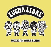 mexican wrestling lucha libre3 Kids Tee