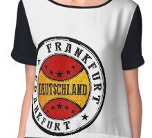 Stamp Of Frankfurt Chiffon Top