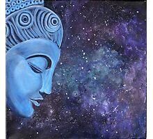 Spiritual  Blue Buddha  Photographic Print