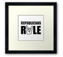 Republicans Rule Framed Print