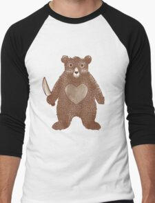 I Love You Bear Men's Baseball ¾ T-Shirt