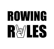 Rowing Rules Photographic Print