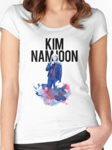 Namjoon Water Color Women's Fitted Scoop T-Shirt
