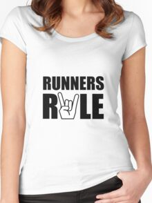 Runners Rule Women's Fitted Scoop T-Shirt