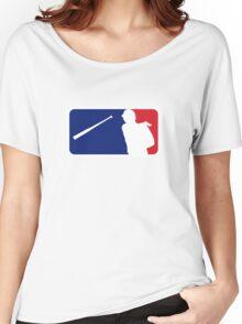 Jose Bautista bat flip MLB logo Women's Relaxed Fit T-Shirt