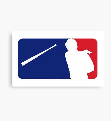 Jose Bautista bat flip MLB logo Canvas Print