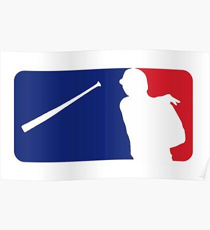 Jose Bautista bat flip MLB logo Poster