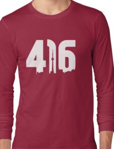 416 logo with Toronto skyline Long Sleeve T-Shirt