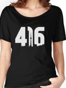 416 logo with Toronto skyline Women's Relaxed Fit T-Shirt