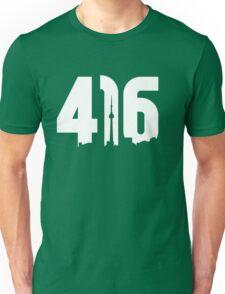 416 logo with Toronto skyline Unisex T-Shirt