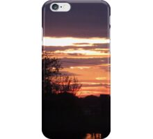 Trees, Sunset, Clouds iPhone Case/Skin