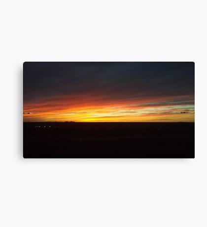 Dark and Orange Sunset Canvas Print